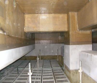 庭窪浄水場オゾン接触池壁面補修工事